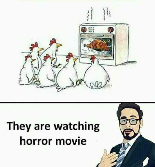 హారర్ కథలు - They are watching horror movie - ShareChat