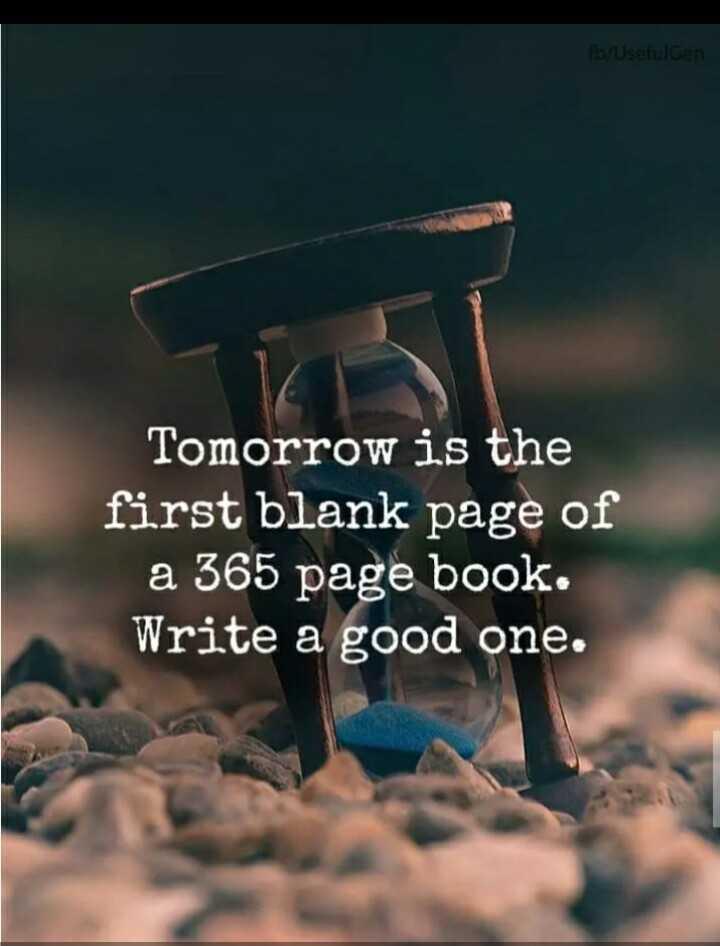 🥳హ్యాపీ న్యూ ఇయర్ 2020 - Tomorrow is the first blank page of a 365 page book . Write a good one . - ShareChat