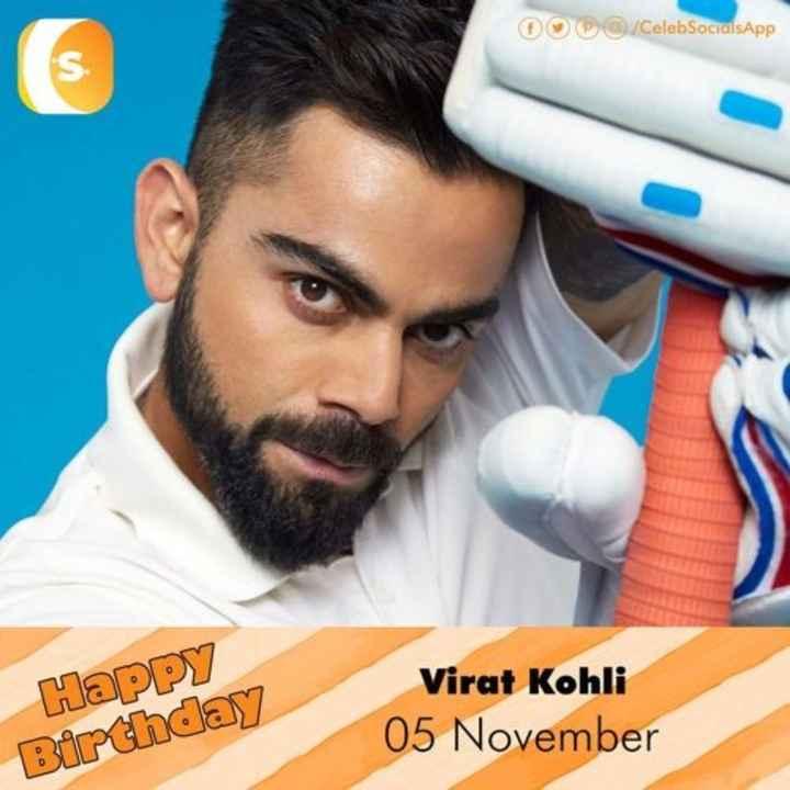 🎂 ಕಿಂಗ್ ಕೊಹ್ಲಿ ಹುಟ್ಟುಹಬ್ಬ - O / CelebSocialsApp Happy Birthday Virat Kohli 05 November - ShareChat