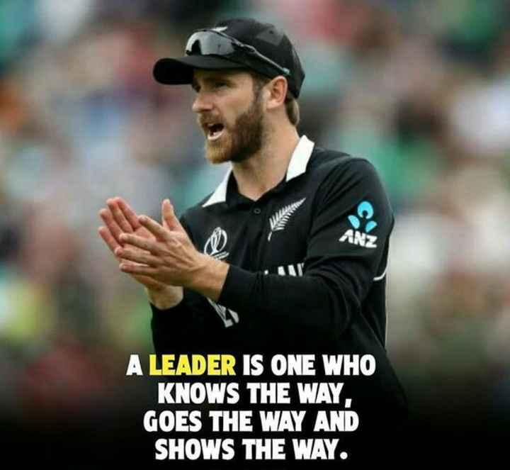 🏏 ಕ್ರಿಕೆಟ್ - ANZ A LEADER IS ONE WHO KNOWS THE WAY . GOES THE WAY AND SHOWS THE WAY . - ShareChat