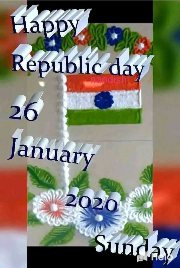 🎉ಗಣರಾಜ್ಯೋತ್ಸವ ಆಚರಣೆ - Happy Republic day nandish 26 January SV2020 Sunday - ShareChat
