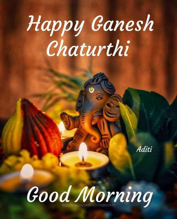 🤝ಗಣೇಶ ಚತುರ್ಥಿಯ ಶುಭಾಶಯಗಳು - Happy Ganesh Chaturthi IRU Aditi Good Morning ODEBMALYADASPHOTOGRAPHY - ShareChat