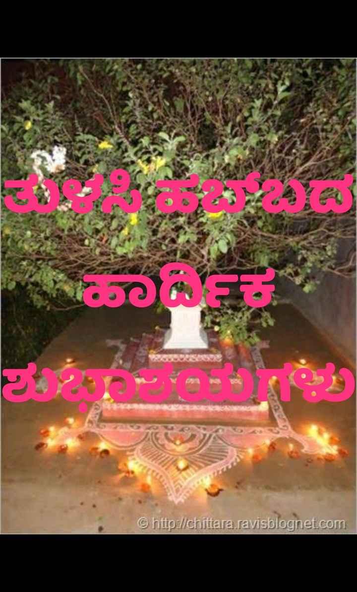 🌿ತುಳಸಿ ಹಬ್ಬ - ಮಾಸ ಶಕ್ತಿಯು http : / / chittara ravisblognet . com - ShareChat