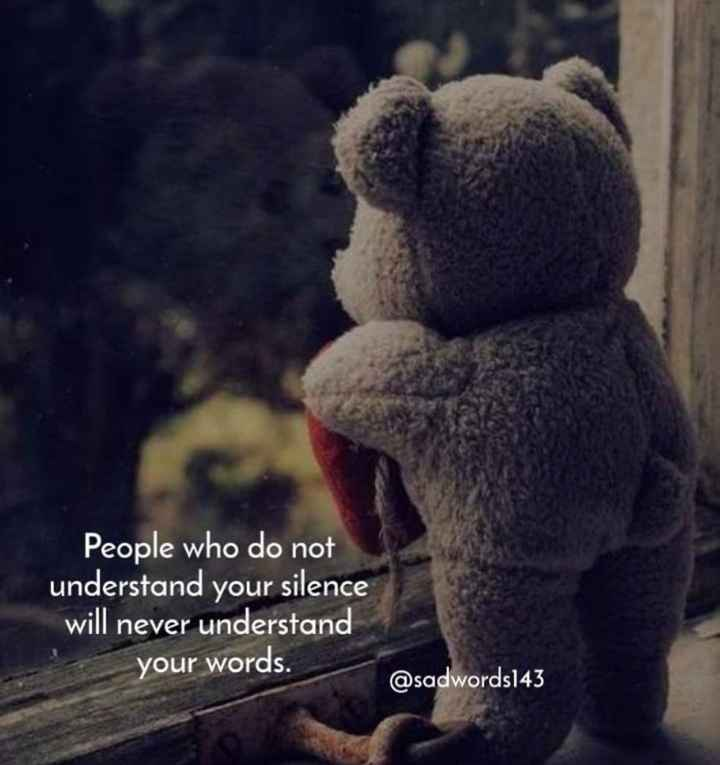🤔ನನ್ನ ಪ್ರಕಾರ - People who do not understand your silence will never understand your words . @ sadwords143 - ShareChat