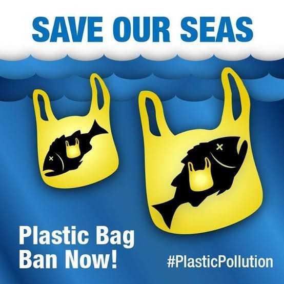 ♳ ಪ್ಲಾಸ್ಟಿಕ್ ಬ್ಯಾಗ್ ಮುಕ್ತ ದಿನ - SAVE OUR SEAS Plastic Bag Ban Now ! # Plastic Pollution - ShareChat