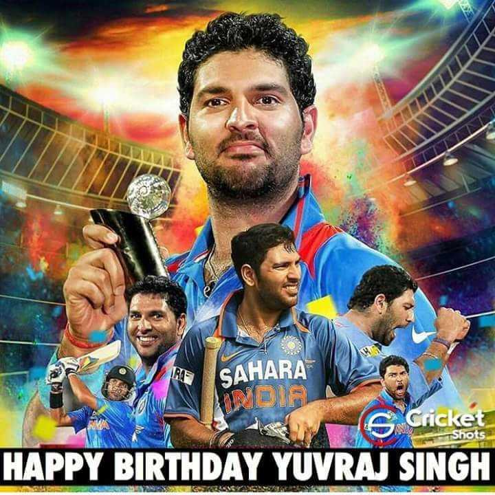 🎂ಯುವರಾಜ್ ಸಿಂಗ್ ಹುಟ್ಟುಹಬ್ಬ - SAHARA INDIG v s Cricket Shots HAPPY BIRTHDAY YUVRAJ SINGH - ShareChat