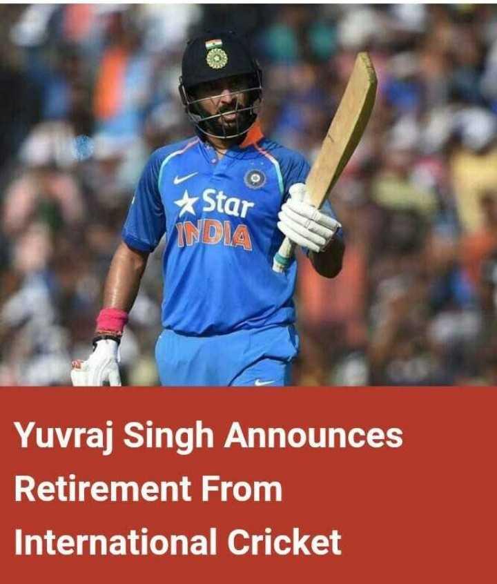 🏏 ಯುವಿ ಕ್ರಿಕೆಟ್ ಗೆ ವಿದಾಯ - & Star NDIA Yuvraj Singh Announces Retirement From International Cricket - ShareChat