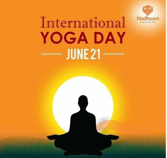 ಯೋಗ ಡೇ - Madhyam International YOGA DAY JUNE 21 cm - ShareChat