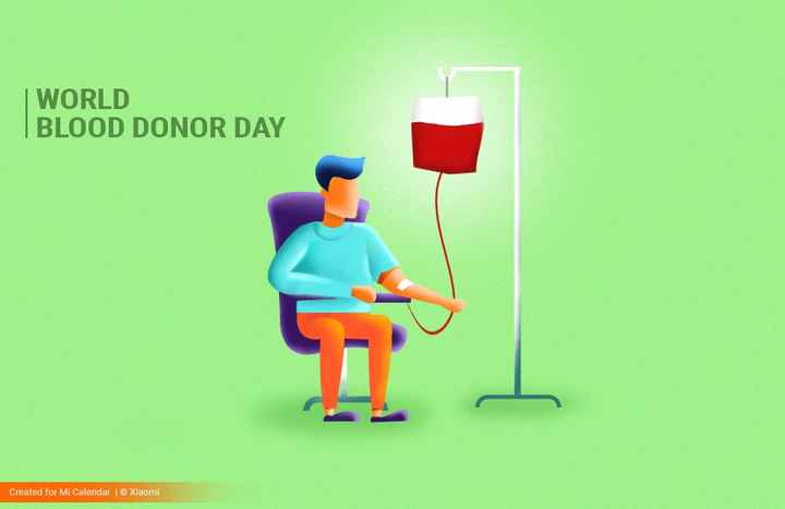 ರಕ್ತ ದಾನಿಗಳು - | WORLD BLOOD DONOR DAY Created for Mi Calendar | Xiaomi - ShareChat