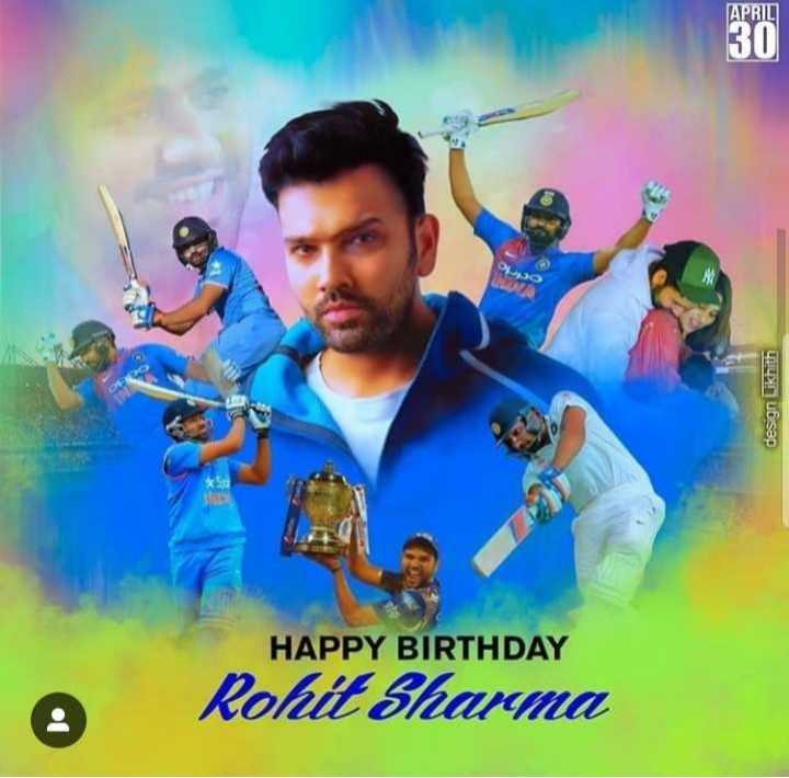 ರೋಹಿತ್ ಶರ್ಮಾ - DO կայսhsop HAPPY BIRTHDAY A Rohit Sharma - ShareChat
