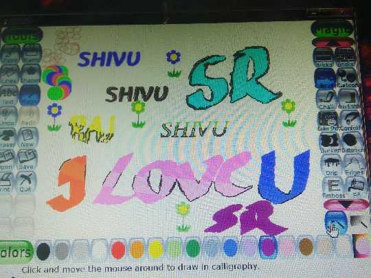 💓ಲವ್ ಸ್ಟೇಟಸ್ - BB SHIVU O Bricksbricks Lines Shane * SHVUSAR TextMag indo Redo o w SHIVU DOODF im : raser New en Save olors Click and move the mouse around to draw in calligraphy - ShareChat