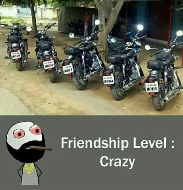 🚴ವಿಶ್ವ ಬೈಸಿಕಲ್ ದಿನ - 0001 BOOZ TOO 8004 8005 Friendship Level : Crazy - ShareChat