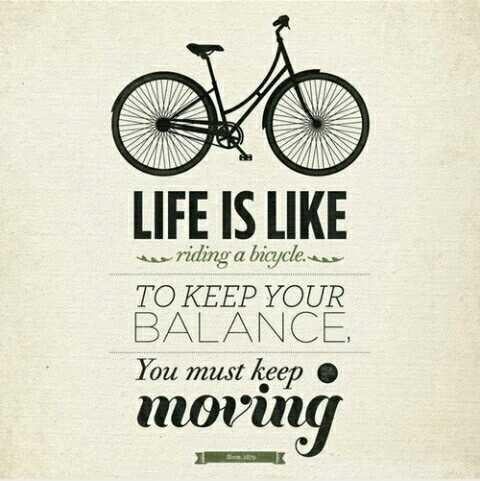 🚴ವಿಶ್ವ ಬೈಸಿಕಲ್ ದಿನ - LIFE IS LIKE w riding a bicycle . TO KEEP YOUR BALANCE You must keep moving - ShareChat