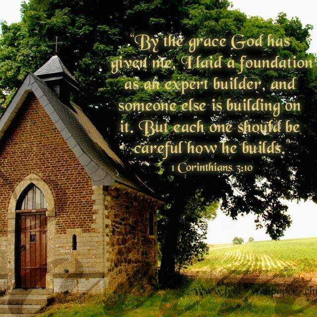 ಶುಭ ಸಂಜೆ - * By thế grace God has giygie ' nte . Ilaid a foundation as an expert builder , and someone else is building on it . But each onë should be careful how he builds . . * 1 Corinthians . 3 : 10 clipap el - ShareChat