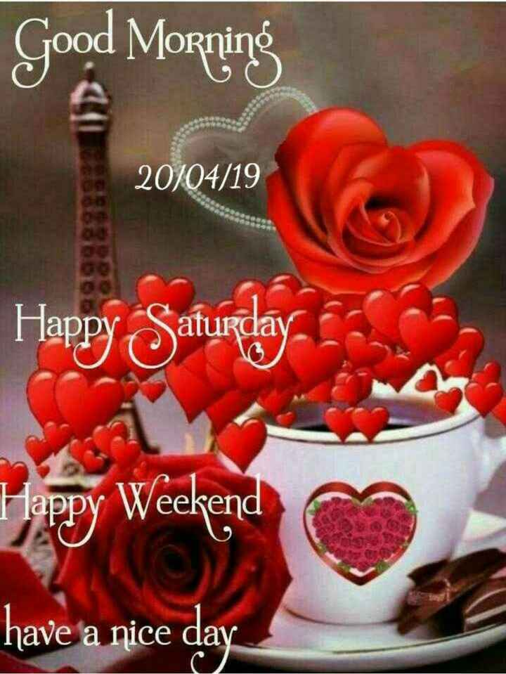👏ಶುಭಾಶಯಗಳು - Good Morning 20 / 04 / 19 Happy Saturday . Happy Weekend have a nice day - ShareChat