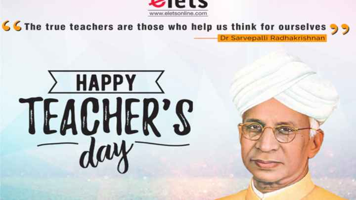 👏ಶುಭಾಶಯಗಳು - Wels www . eletsonline . com 6 The true teachers are those who help us think for ourselves Dr Sarvepalli Radhakrishnan HAPPY TEACHER ' S day - ShareChat
