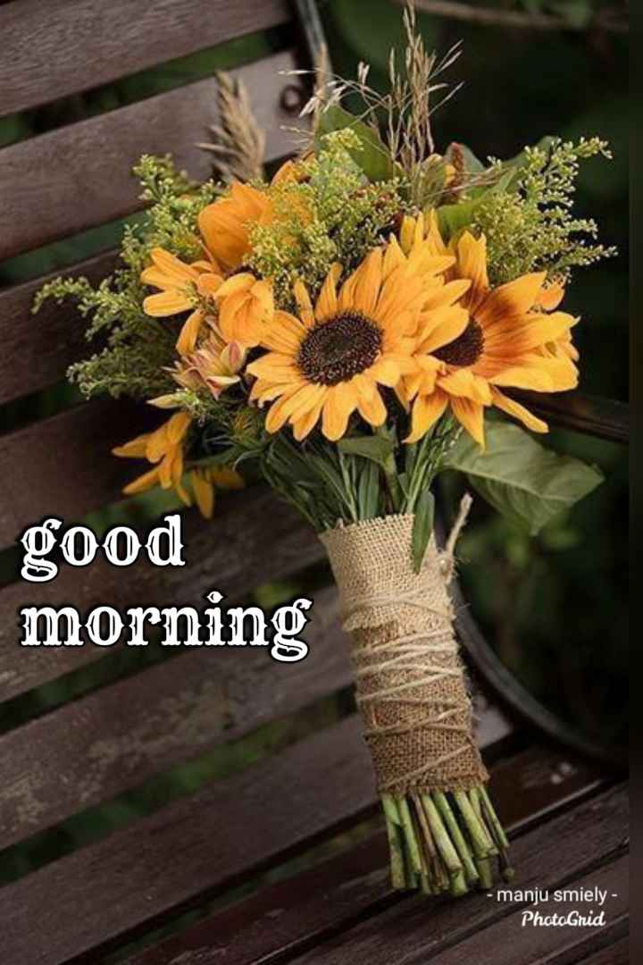 🌅ಶುಭೋದಯ - good morning - manju smiely - PhotoGrid - ShareChat