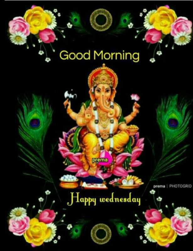 🌅ಶುಭೋದಯ - Good Morning prema prema PHOTOGRID Happy wednesday - ShareChat