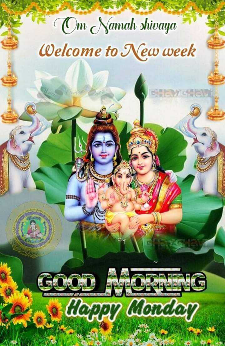 🌅ಶುಭೋದಯ - Om Namah shivaya Welcome to New week GOOD MORNING Dice Happy Monday - ShareChat