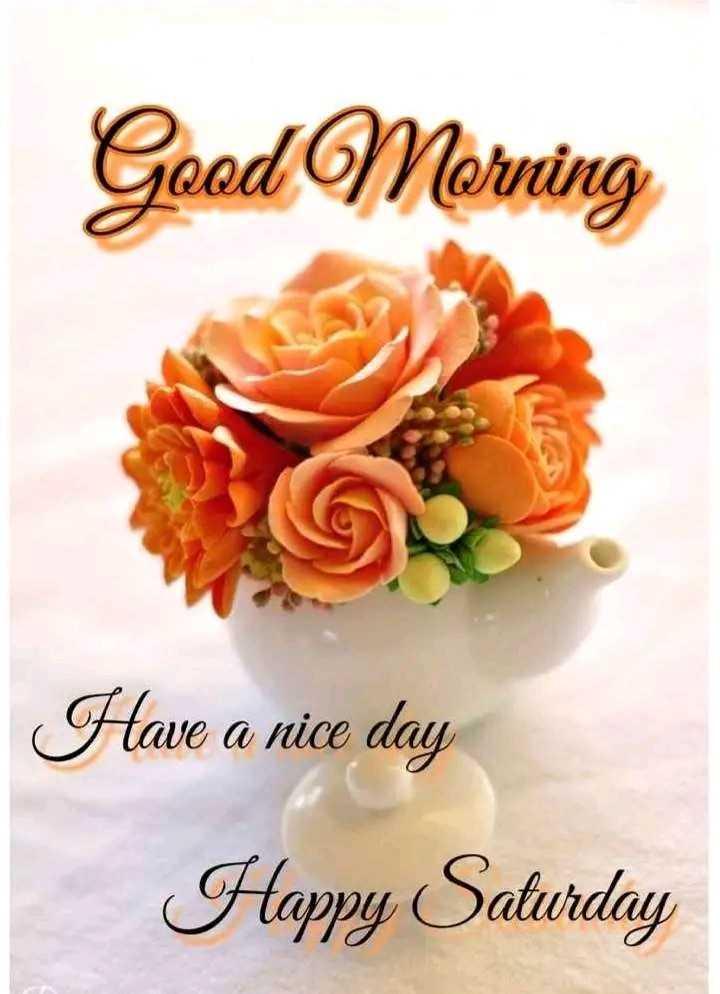 🌅ಶುಭೋದಯ - Good Morning Have a nice day Happy Saturday - ShareChat