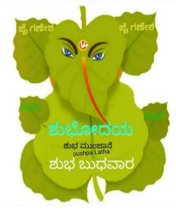 🌅ಶುಭೋದಯ - ಜೈ ಗಣೇಶ ಜೈ ಗಣೇಶ ಶುಭೋದಯ ಶುಭ ಮುಂಜಾನೆ pushpa Latha ಶುಭ ಬುಧವಾರ - ShareChat