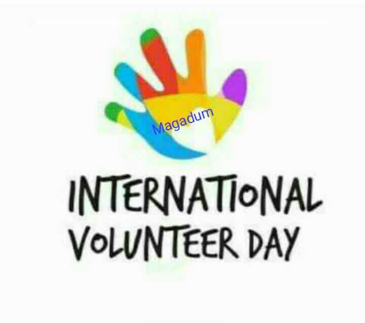 🌅ಶುಭೋದಯ - Magadum INTERNATIONAL VOLUNTEER DAY - ShareChat