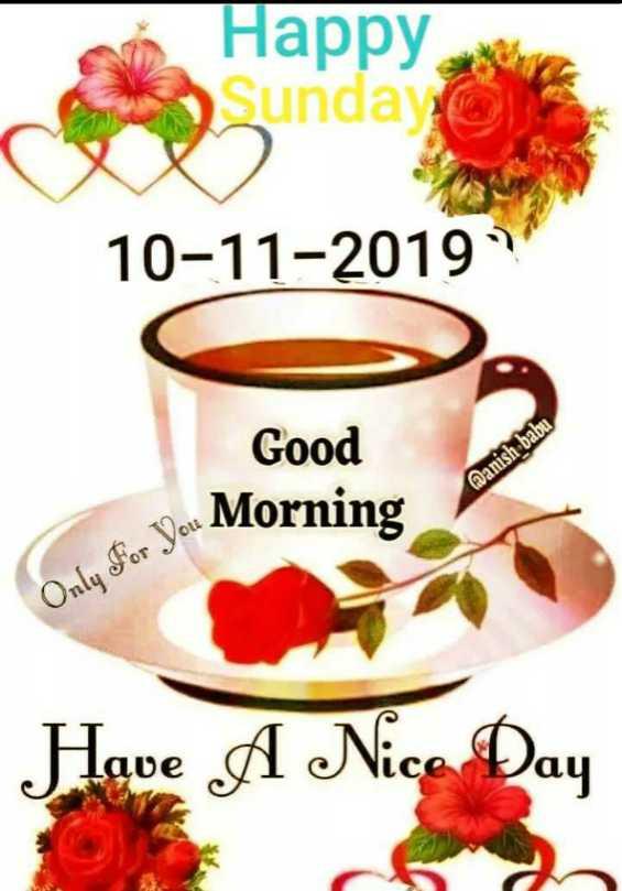 🌅ಶುಭೋದಯ - Happy Sunday 10 - 11 - 2019 Good Vou Morning @ anish babu Only For You Mo Have A Nice Day - ShareChat