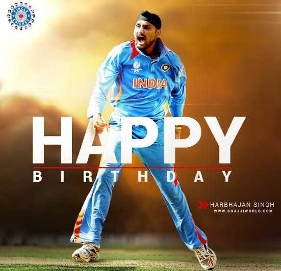 ಹರ್ಭಜನ್ ಹುಟ್ಟುಹಬ್ಬ - ACE INDIA HAPPY BIRO HARBHAJAN SINGH WWW . BHAJJIWORLD . COM - ShareChat