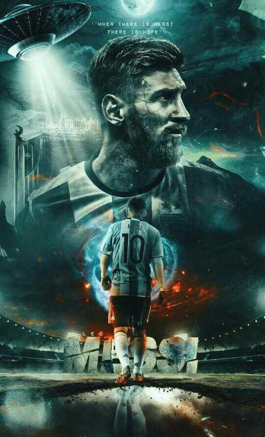 🇦🇷 അർജന്റീന ഫാൻസ്‌ - WHEN THERE IS MESSI THERE IS HOPE MESSI HA - ShareChat