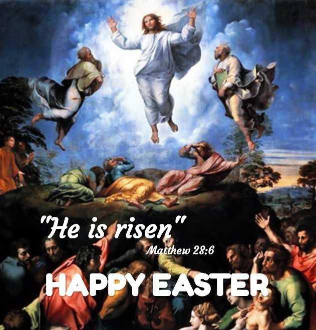ഈസ്റ്റർ ആശംസകൾ - He isorisen HAPPY EASTER Matthew 28 : 6 - ShareChat
