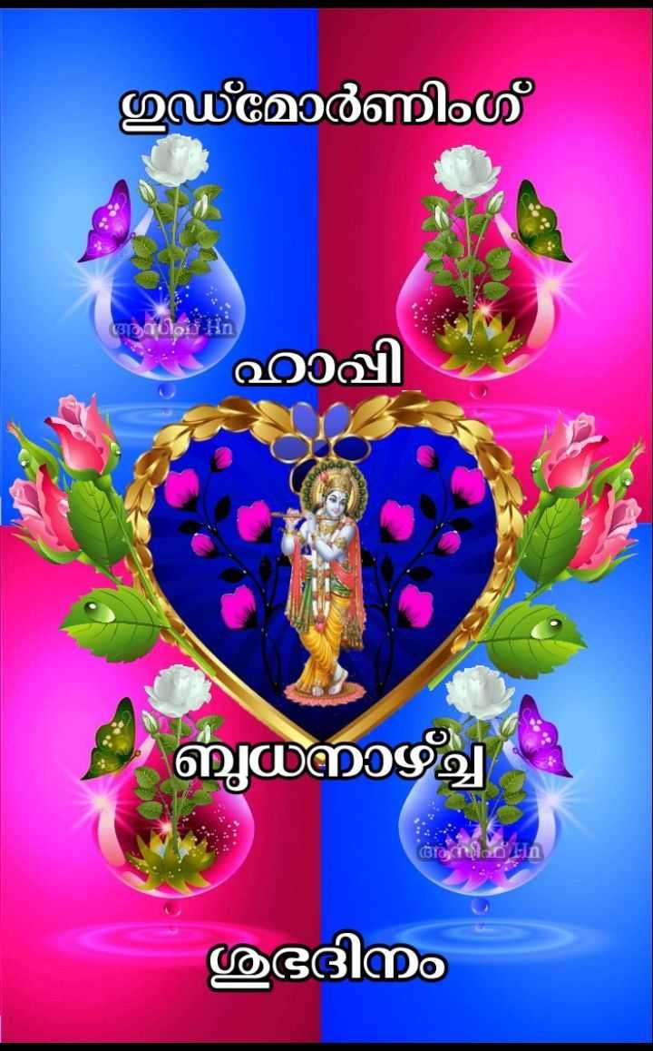 🌞 ഗുഡ് മോണിംഗ് - ഗുഡ് മോർണിംഗ് ആധിവ് ഹാപ്പി ബുധനാഴ്ച്ച അസിഹ് - n ശുഭദിനം - ShareChat