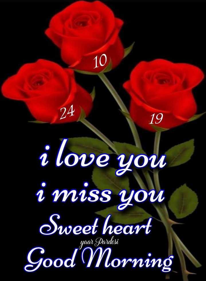 🌞 ഗുഡ് മോണിംഗ് - 10 24 19 i love you i miss you Sweet heart Good Morning yaar Pardesi - ShareChat