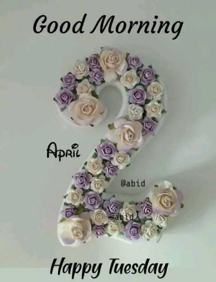 🌞 ഗുഡ് മോണിംഗ് - Good Morning April o @ abid Towabid Happy Tuesday - ShareChat