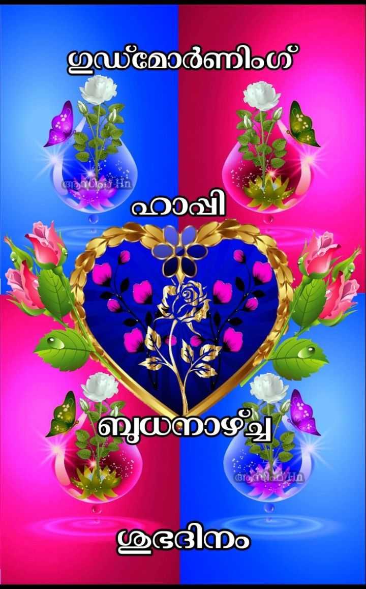🌞 ഗുഡ് മോണിംഗ് - ഗുഡ് മോർണിംഗ് ആധിവ് ഹാപ്പി ബുധനാഴ്ച അസിഹ് - n ശുഭദിനം - ShareChat