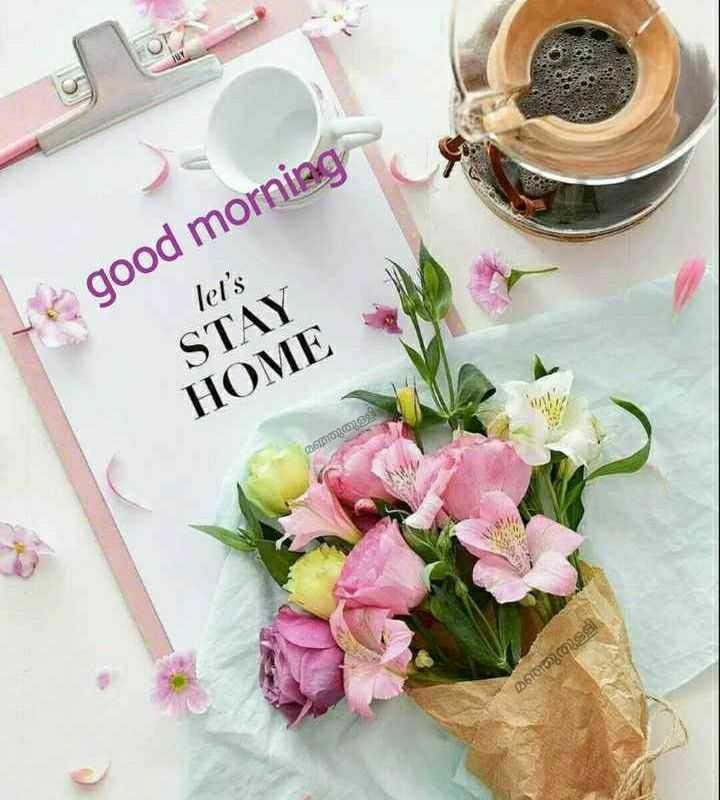 🌞 ഗുഡ് മോണിംഗ് - good morning let ' s STAY HOME മഞ്ഞുതുള്ളി | മഞ്ഞുതുളളി - ShareChat