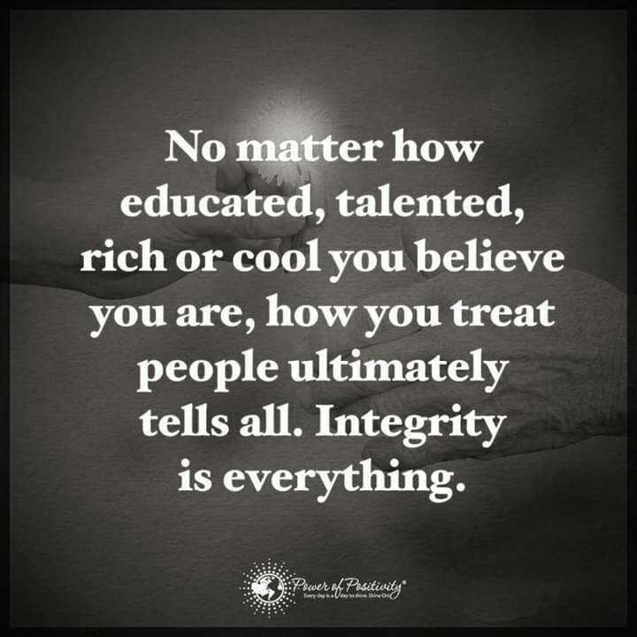 📙 നോവൽ - No matter how educated , talented , rich or cool you believe you are , how you treat people ultimately tells all . Integrity is everything . Power of Positiviti yosh - ShareChat