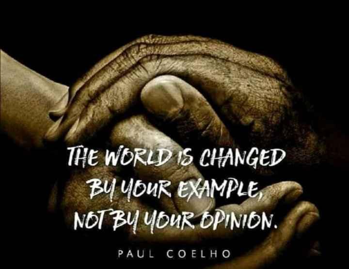 📙 നോവൽ - THE WORLD IS CHANGED BY YOUR EXAMPLE , NOT BY YOUR OPINION . PAUL COELHO - ShareChat