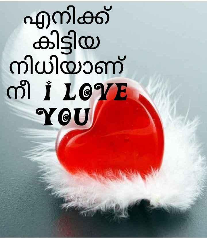 💌 പ്രണയം - എനിക്ക് - കിട്ടിയ നിധിയാണ് MI I LOVE YOU - ShareChat