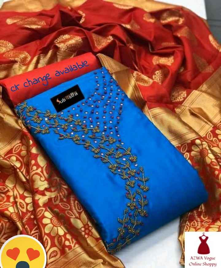 👜 ഫാഷന് - clr change available Suti asita AZWA Vogue Online Shoppy - ShareChat