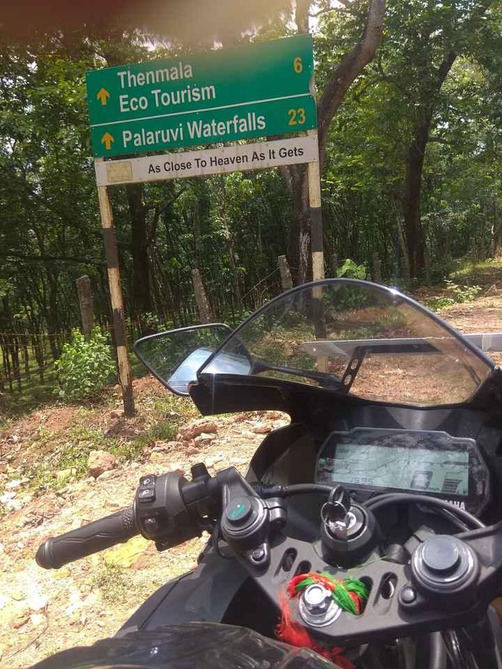 📱 മൊബൈല് ഫോട്ടോഗ്രഫി - Thenmala Eco Tourism 1 Palaruvi Waterfalls 23 As Close To Heaven As It Gets - ShareChat