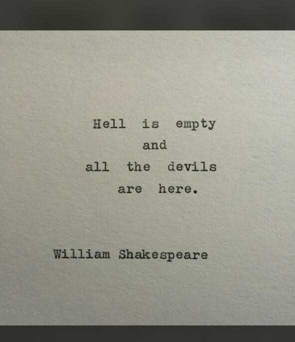 സിംഗിൾ ലൈഫ് - Hell is empty and all the devils are here . William Shakespeare - ShareChat