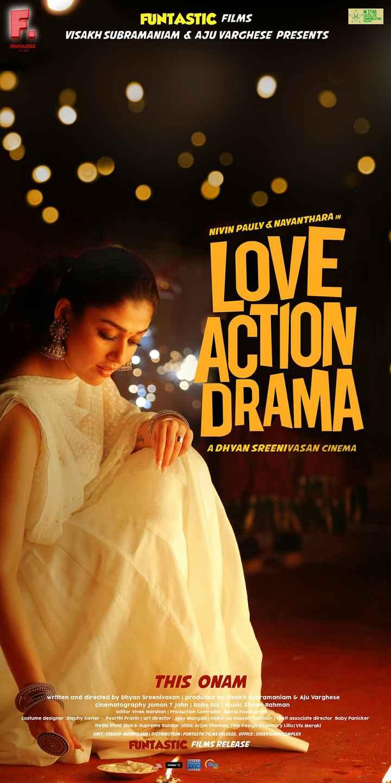 🍿 സിനിമാ വിശേഷം - M STAR 7 SATELLITE COMMUNICATIONS PRESENTS FUNTASTIC FILMS VISAKH SUBRAMANIAM & AJU VARGHESE PRESENTS FUNTASTIC FILMS NIVIN PAULY & NAYANTHARA IN LOVE aa ACTION DRAMA ADHYAN SREENIVASAN CINEMA THIS ONAM Written and directed by Dhyan Sreenivasan | produced by Visakh Subramaniam & Aju Varghese cinematography Jomon T John Roby Raj | music Shaan Rahman editor Vivek Harshan | Production controller Manoj Poonkunam costume designer : Stephy Xavier - Poorthi Pravin art director : Ajay Mangad make up Hassan Vandoor cheif associate director Baby Panicker thrills Stunt Siva & Supreme Sundar stills : Arjun Thomas Title Design Rosemary Lillu Vfx Meraki UNIT : VISAKH - MERRYLAND DISTRIBUTION : FUNTASTIC FILMS RELEASE , OFFICE : SREEVISAKH COMPLEX FUNTASTIC FILMS RELEASE hotstar TIID PHARS FILm WA Asia - ShareChat