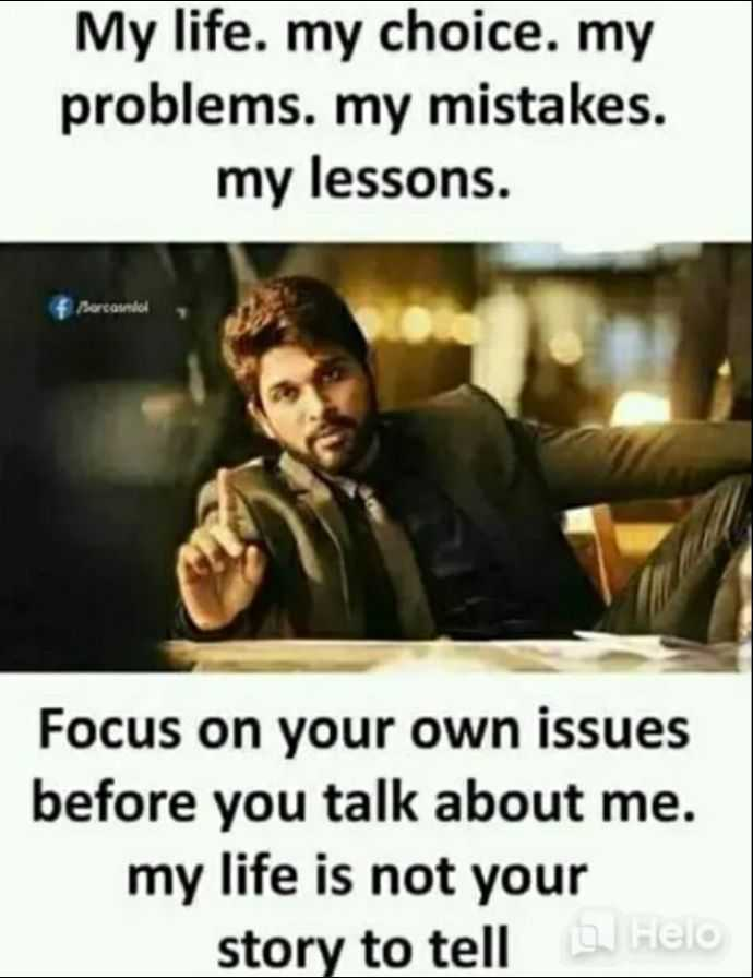 👩‍🎓नारी शक्ति - My life . my choice . my problems . my mistakes . my lessons . Bercando Focus on your own issues before you talk about me . my life is not your story to tell - ShareChat