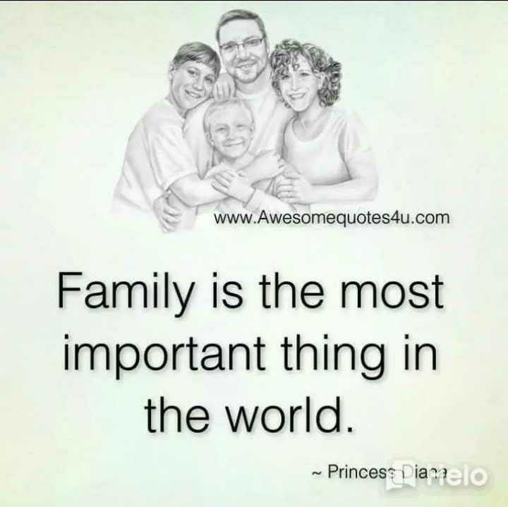 👨👧पापा की परी - www . Awesomequotes4u . com Family is the most important thing in the world . ~ Princess Diamaelo - ShareChat
