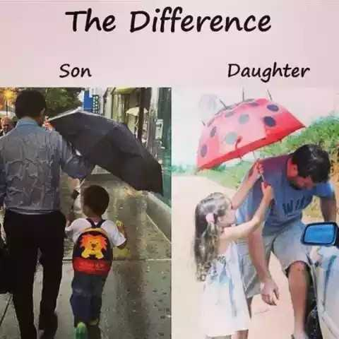👨👧पापा की परी - The Difference Son Daughter - ShareChat