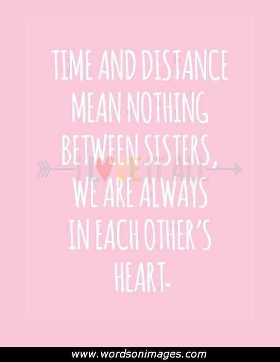 👩ਮੇਰੀ ਪਿਆਰੀ ਭੈਣ - TIME AND DISTANCE MEAN NOTHING BETWEEN SISTERS , WE ARE ALWAYS IN EACH OTHER ' S HEART www . wordsonimages . com - ShareChat