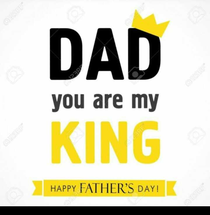 👨‍👧ఫాదర్స్ డే - DAD 23R you are my KING HAPPY FATHER ' S DAY ! - ShareChat