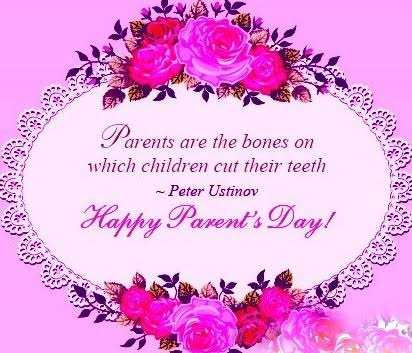 👨👩👧जागतिक पालक दिवस - Parents are the bones on which children cut their teeth - Peter Ustinov Happy Parent ' s Day ! - ShareChat