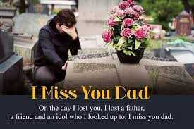 👨‍👧‍👦  हैप्पी फादर्स डे - I Miss You Dad On the day I lost you , I lost a father , a friend and an idol who I looked up to . I miss you dad . - ShareChat