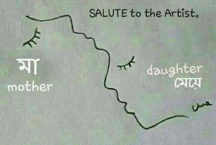 👨‍👦‍👦পরিবার - SALUTE to the Artist . মা । mother daughter মেয়ে - ShareChat